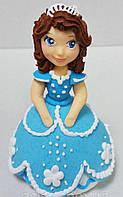 Цукрова прикраса для торта Принцеса Софійка Голубой