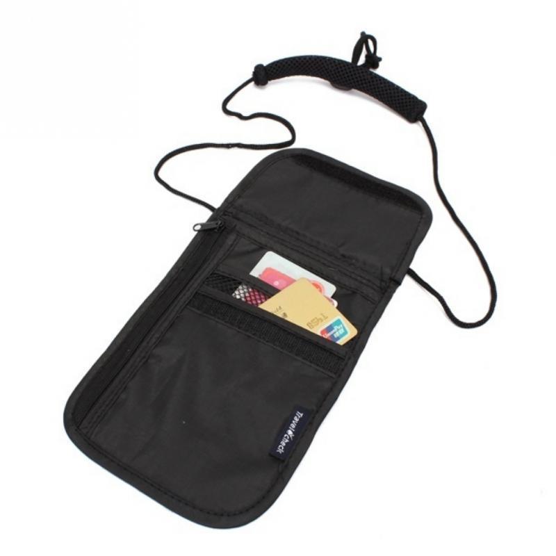 Сумка потайная для денег на шею Travel Check 14х19,5 см Черный (01058/01)