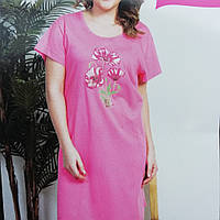 Женская ночная сорочка -туника с карманами,подходит для дома и сна,большой размер ..2хл..3хл..