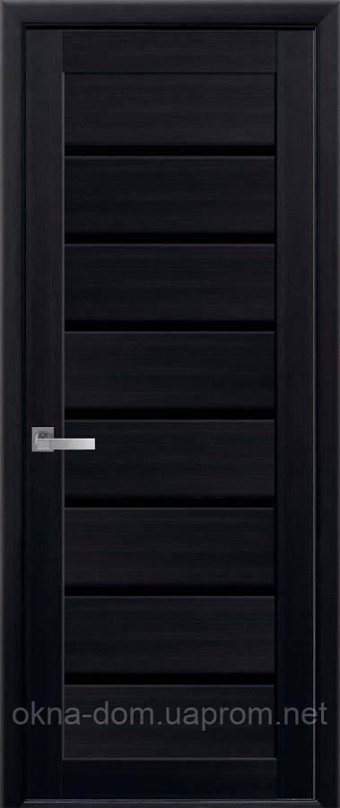 Двери межкомнатные Новый Стиль Леона Экошпон с черным стеклом