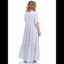 Сукня , колір - рубчик блакитний, фото 3