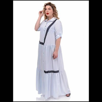 Сукня , колір - рубчик блакитний, фото 2