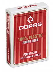 Пластикові гральні карти | Copag Jumbo Index Red