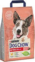 Dog Chow Adult Active - сухий корм Дог Чау для дорослих активних собак з куркою 2.5 кг