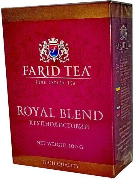 Чай черный пакетированный Farid Tea Королевский Завтрак 100 пак.