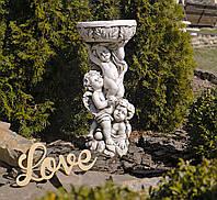 Садовая статуя Три Ангела SS12074-58 цвет бежевый., фото 1