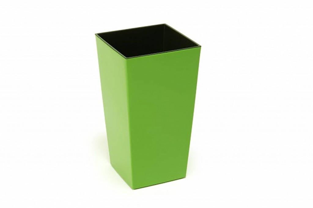 """Кашпо для кімнатних рослин, """"Фінезія"""", 140мм, з вкладом, Світло зелений"""