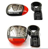 Габаритный задний фонарь Robesbon на солнечной батарее для велосипеда