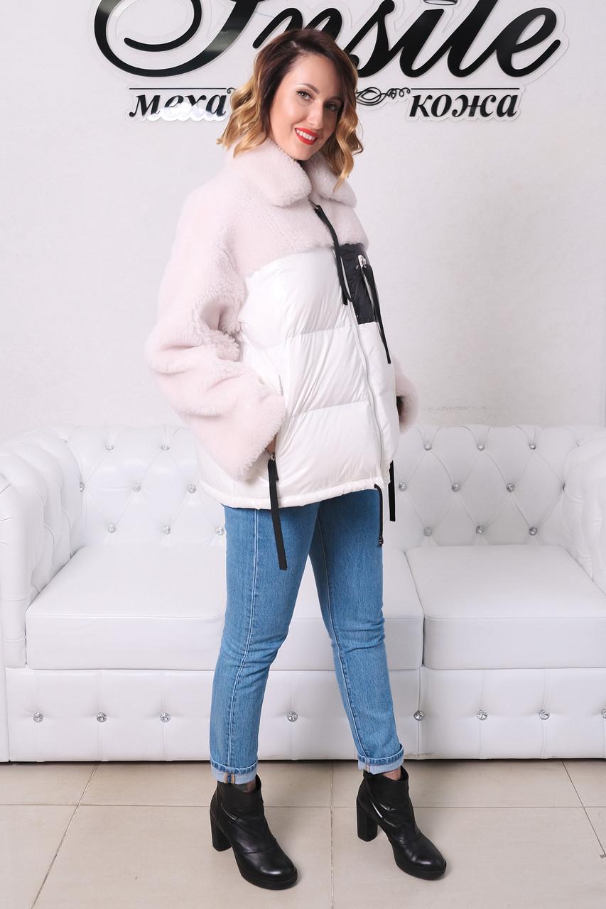 Куртка Из Полиэстра Комбинированная С Овчиной Оversize 0148ШТ