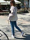 Куртка Из Полиэстра Комбинированная С Овчиной Оversize 0148ШТ, фото 5