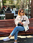 Куртка Из Полиэстра Комбинированная С Овчиной Оversize 0148ШТ, фото 6