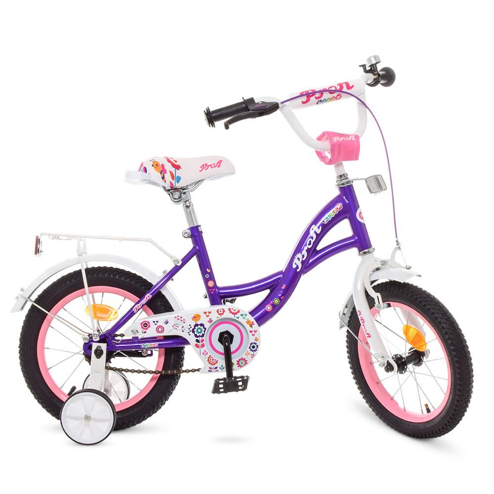 Велосипед детский PROF1 14д. Y1422-1 Фиолетовый