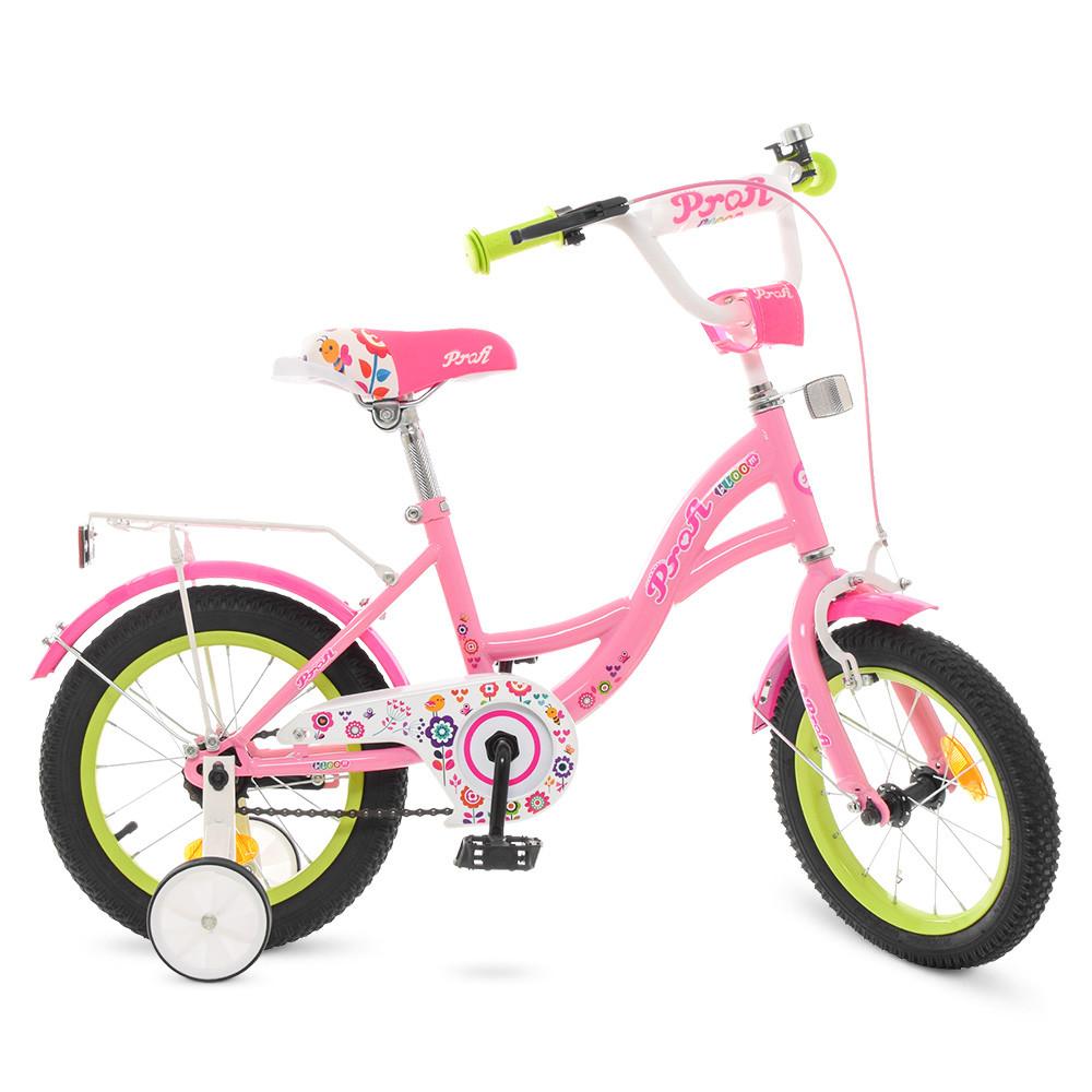 Велосипед детский PROF1 14д. Y1421-1 Розовый