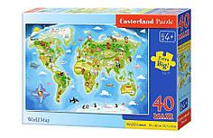 Пазлы maxi Карта Мира на 40 элементов