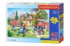 Пазлы maxi Пожарная бригада  на 40 элементов