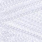 Пряжа YarnArt Macrame 154 белый (Ярнарт Макраме) 100% полиэстер