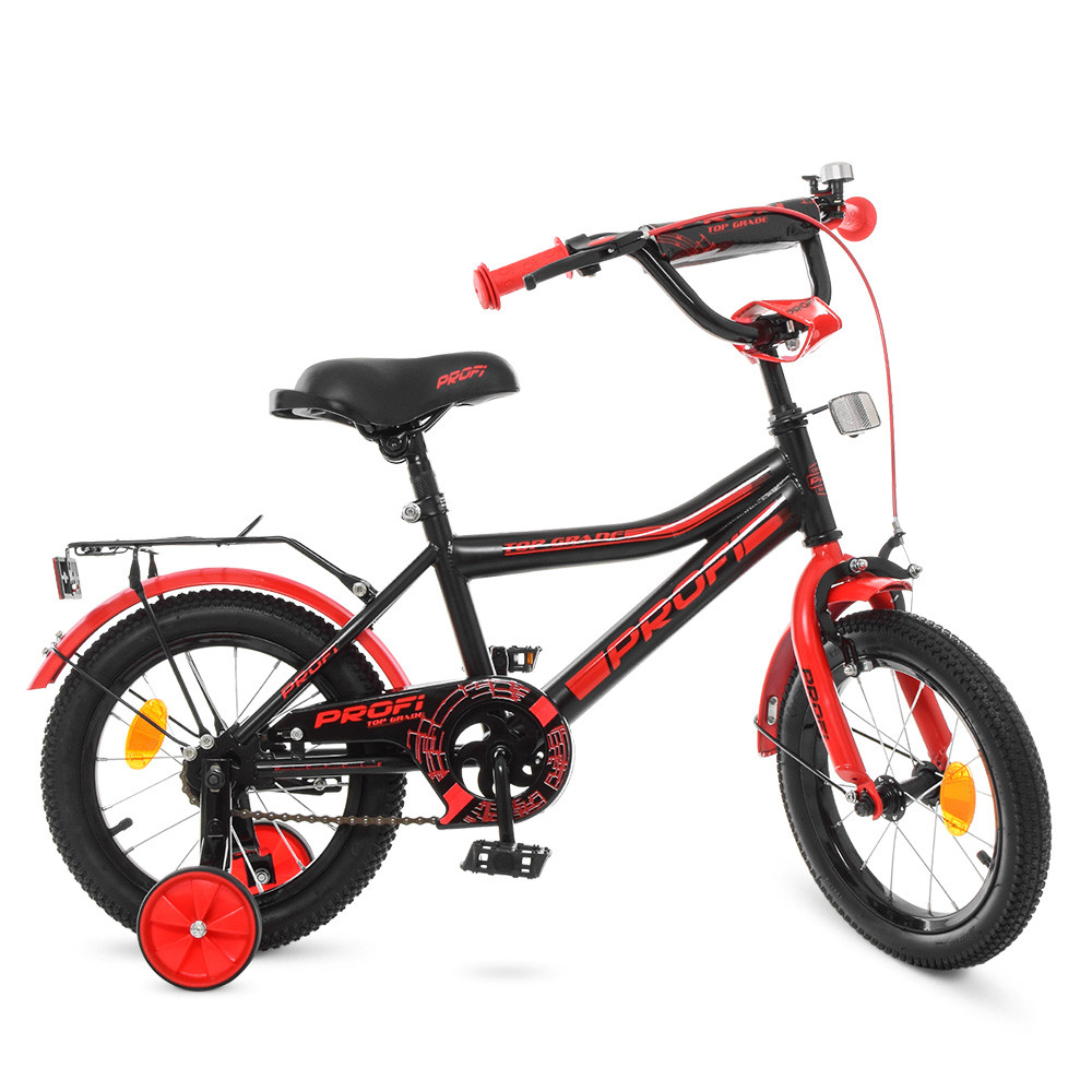 Велосипед детский PROF1 14д. Y14107 Черно - красный