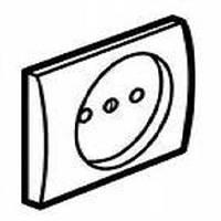 Legrand Galea Life Лицевая панель розетки без заземляющего контакта 2К Цвет: перламутр