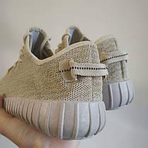 Кросівки чоловічі та жіночі( кеди ) під Adidas Yeezy Boost бежеві на кожен день, РОЗМІРИ 40, 41, 45, фото 3