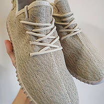 Кросівки чоловічі та жіночі( кеди ) під Adidas Yeezy Boost бежеві на кожен день, РОЗМІРИ 40, 41, 45, фото 2