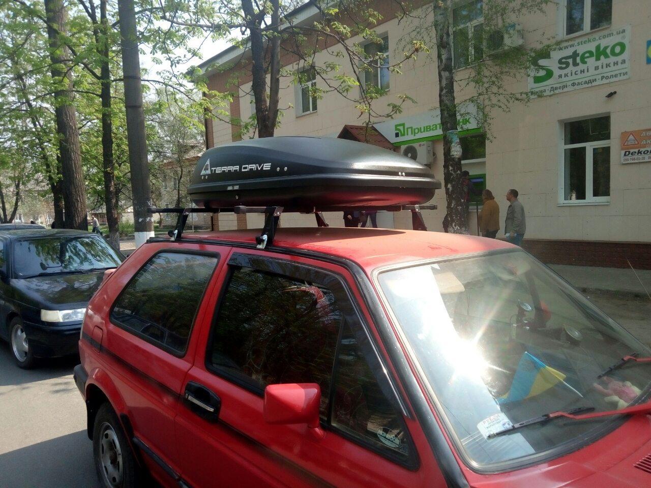 Багажник и бокс на крышу Volkswagen Golf II
