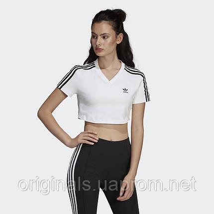 Женская футболка Adidas Cropped DV2620  , фото 2