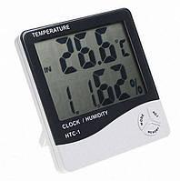 Метеостанция с часами TS - HTC 1 измеряет температуру и влажность часы