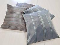 Комплект подушек бирюзовые полосочка , 4шт