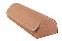 Футляр унисекс, для очков среднего размера (160*52*32) коричневый