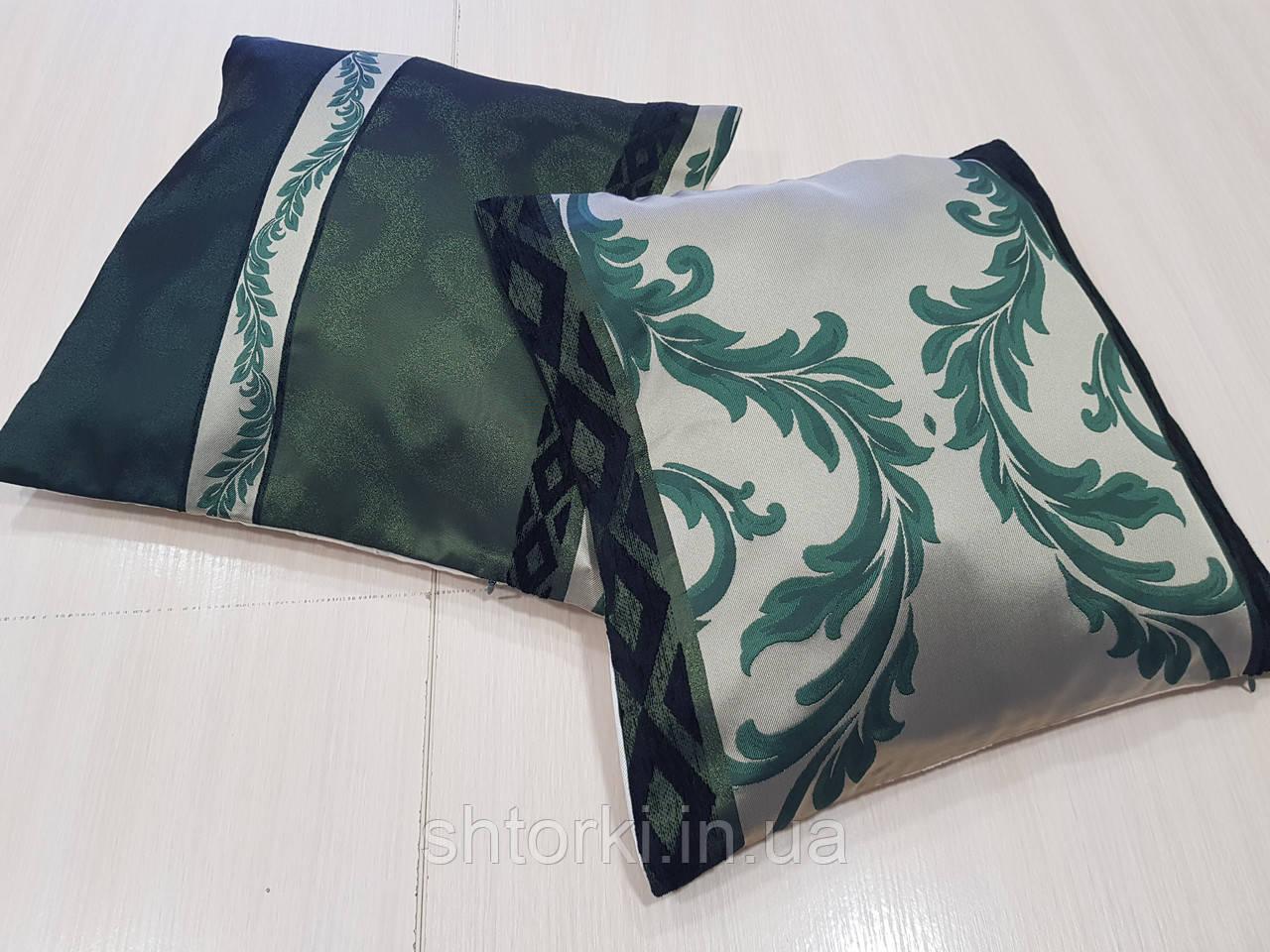 Комплект подушек салатовые и бирюзовые, 2шт