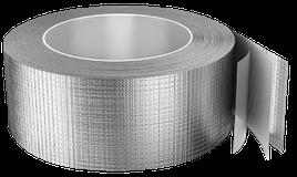 Скотч алюминиевый фольгированный АL+PET усиленный 75ммХ40мп