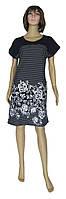 Платье женское летнее 0077 Damask Black коттон, р.р.48-62