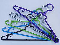 Плечики вешалки пластмассовые складные разные цвета, 39 см, 10 штук в упаковке одного цвета