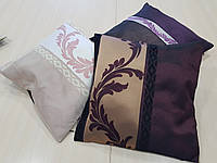 Комплект подушек сирень, розовая, бордо, 3шт, фото 1