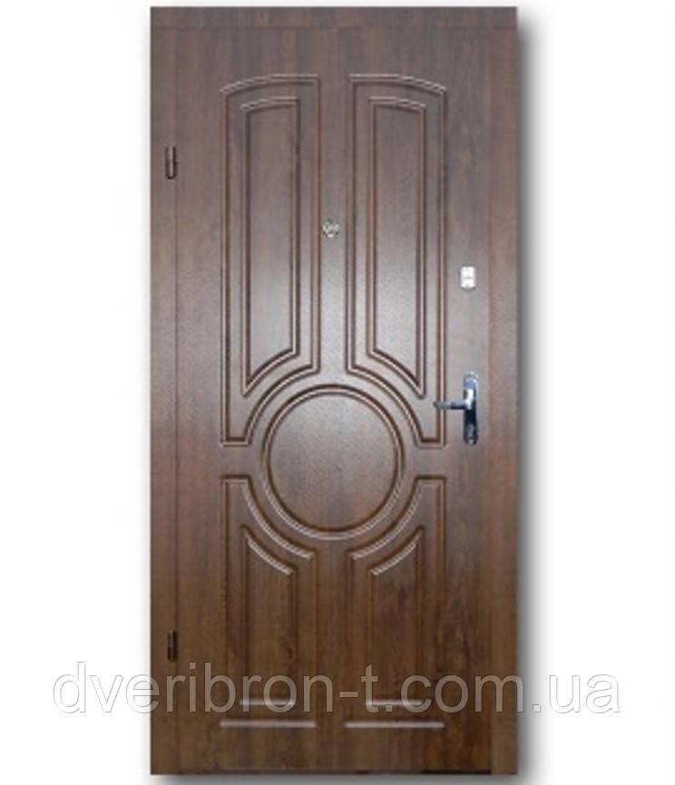 Входная дверь  Эконом Тектон дуб тёмный 860х2050