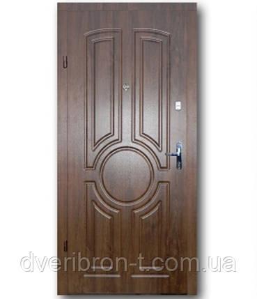 Входная дверь  Эконом Тектон дуб тёмный 860х2050, фото 2