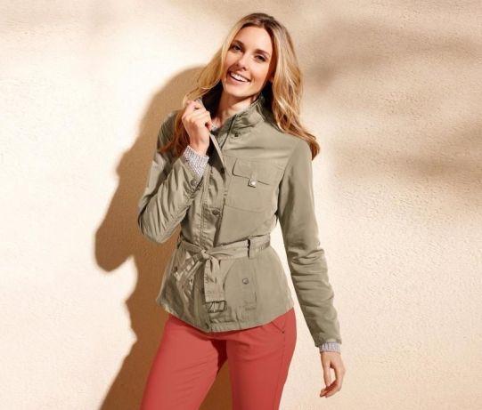Легка куртка вітровка оливкового кольору Tchibo Німеччина 50(UKR)