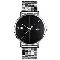 Оригинальные наручные часы Skmei  9183 Tiger Серебристые с Черным циферблатом