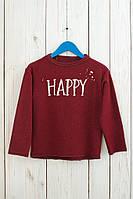 """Бордовая кофта на девочку """"Happy""""."""