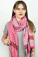 Палантин Famo Брендовый Gucci ярко-розовый 180х70 см - 134643