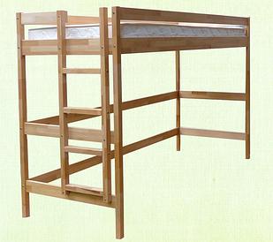 """Кровать-чердак из дерева """"Стандарт"""""""
