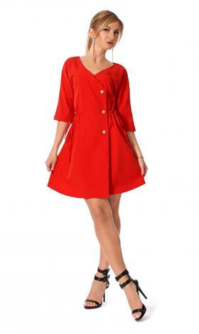 """Платье """"Яся"""" красного цвет размеры 46,48,50, фото 2"""