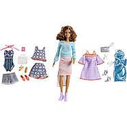 Подарочный набор кукла Barbie с набором одежды / Barbie Pink Passport Fashion Set - Brunette , фото 2