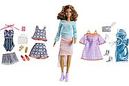 Подарочный набор кукла Barbie с набором одежды / Barbie Pink Passport Fashion Set - Brunette , фото 5
