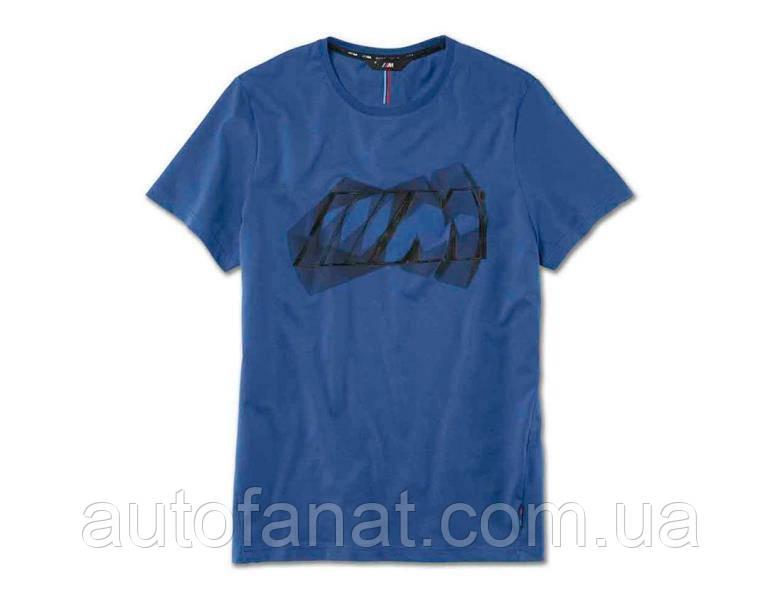 Оригинальная мужская футболка BMW M Logo T-Shirt, Men, Marina Bay Blue (80142450980)