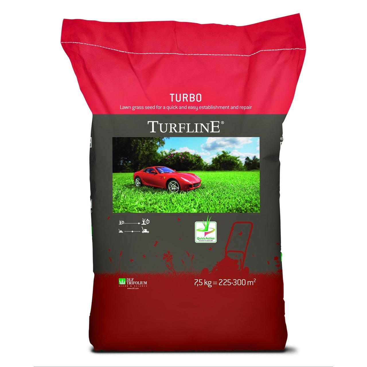 Газонная трава для ремонта и подсева Turfline Турбо / Turbo, DLF Trifolium - 7,5 кг