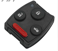 Силиконовые кнопки для ключа Honda Civic Accord CR-V Pilot  3 кнопки + panic, фото 1