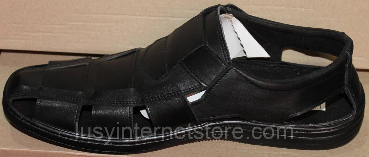 a191eca68199 Мужские сандалии кожаные на липучке от производителя модель АМТ04Л, ...