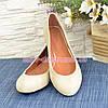 Туфли женские замшевые, цвет бежевый, фото 2