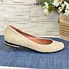 Туфли женские замшевые, цвет бежевый, фото 3